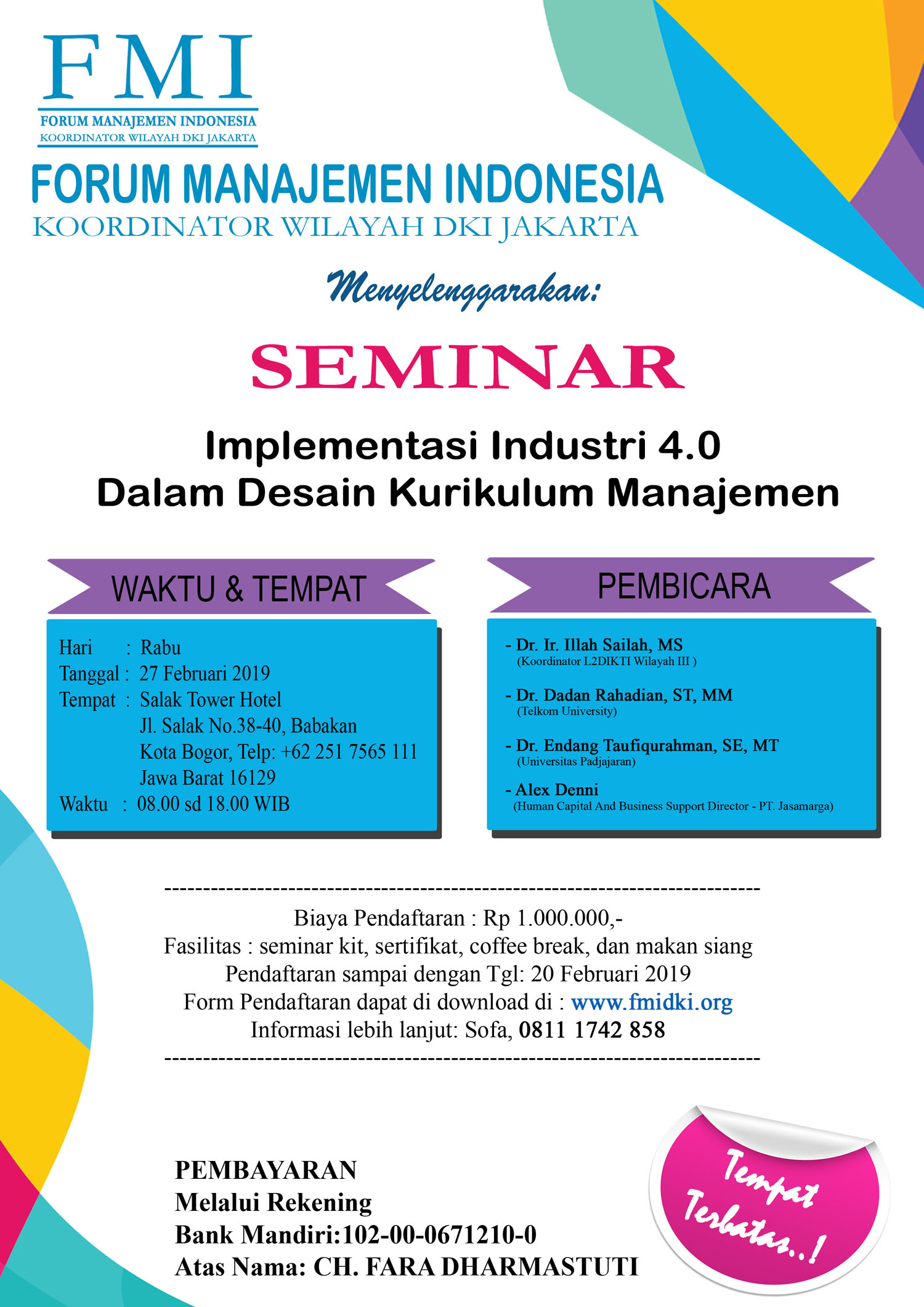 POSTER Seminar Implementasi Industri 4.0